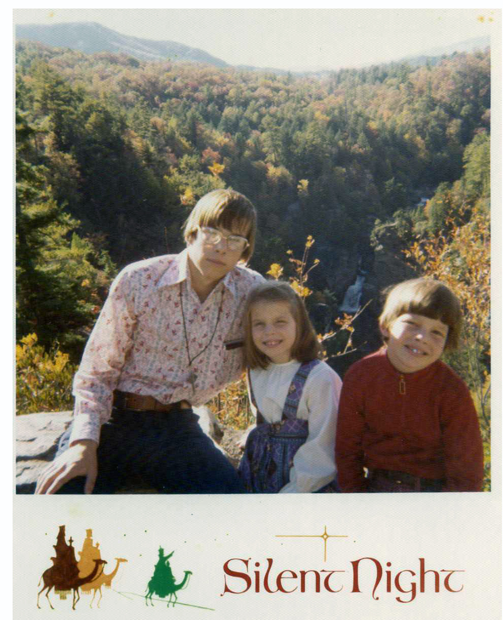 betty orr daniel wessell  a christmas card from the wessell family around 1973
